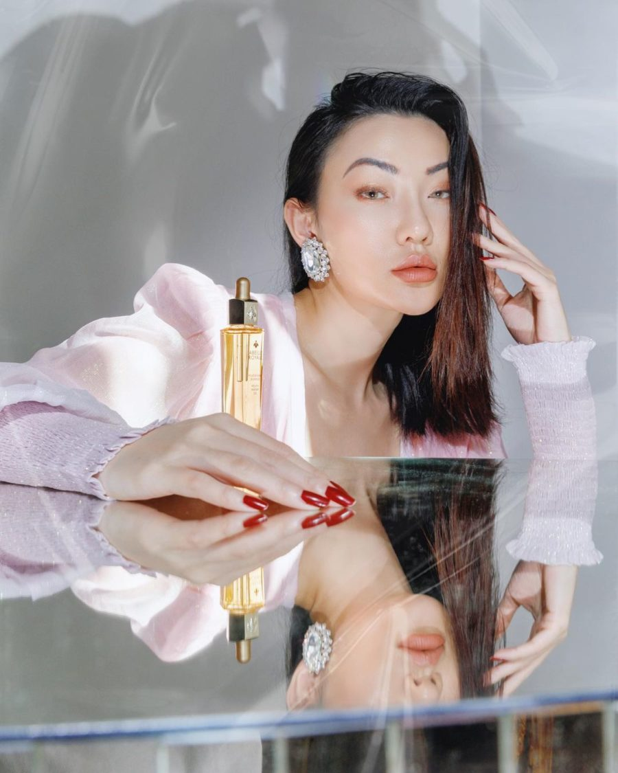 jessica wang wearing a dusty pink dress while sharing 5 cute nail trends to try for the summer // Jessica Wang - Notjessfashion.com