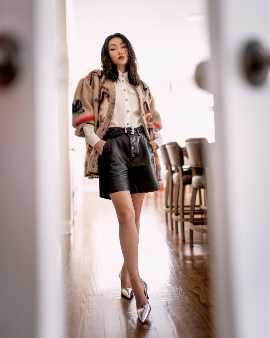 jessica wang spring outfits with leather shorts // Jessica Wang - Notjessfashion.com