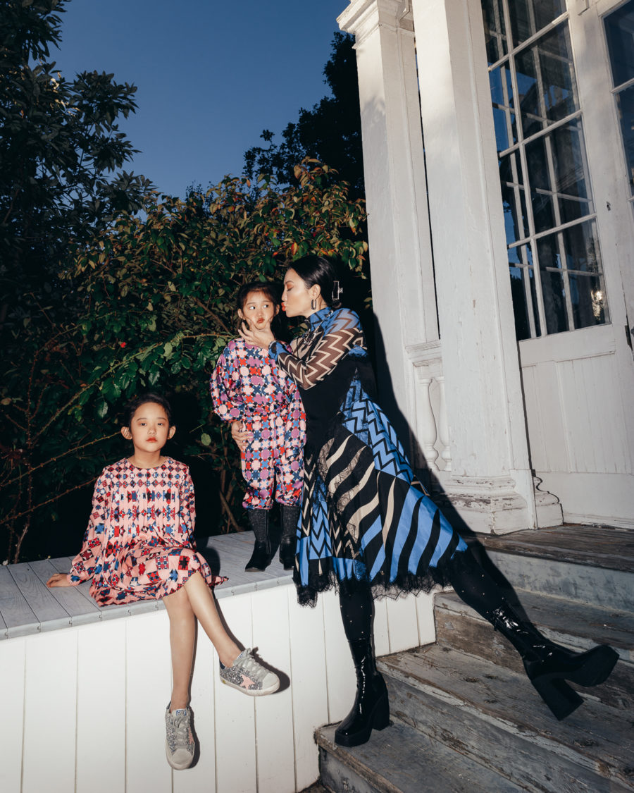 jessica wang and her daughters wearing gucci outfit while sharing perfect mother's day gifts // Jessica Wang - Notjessfashion.com