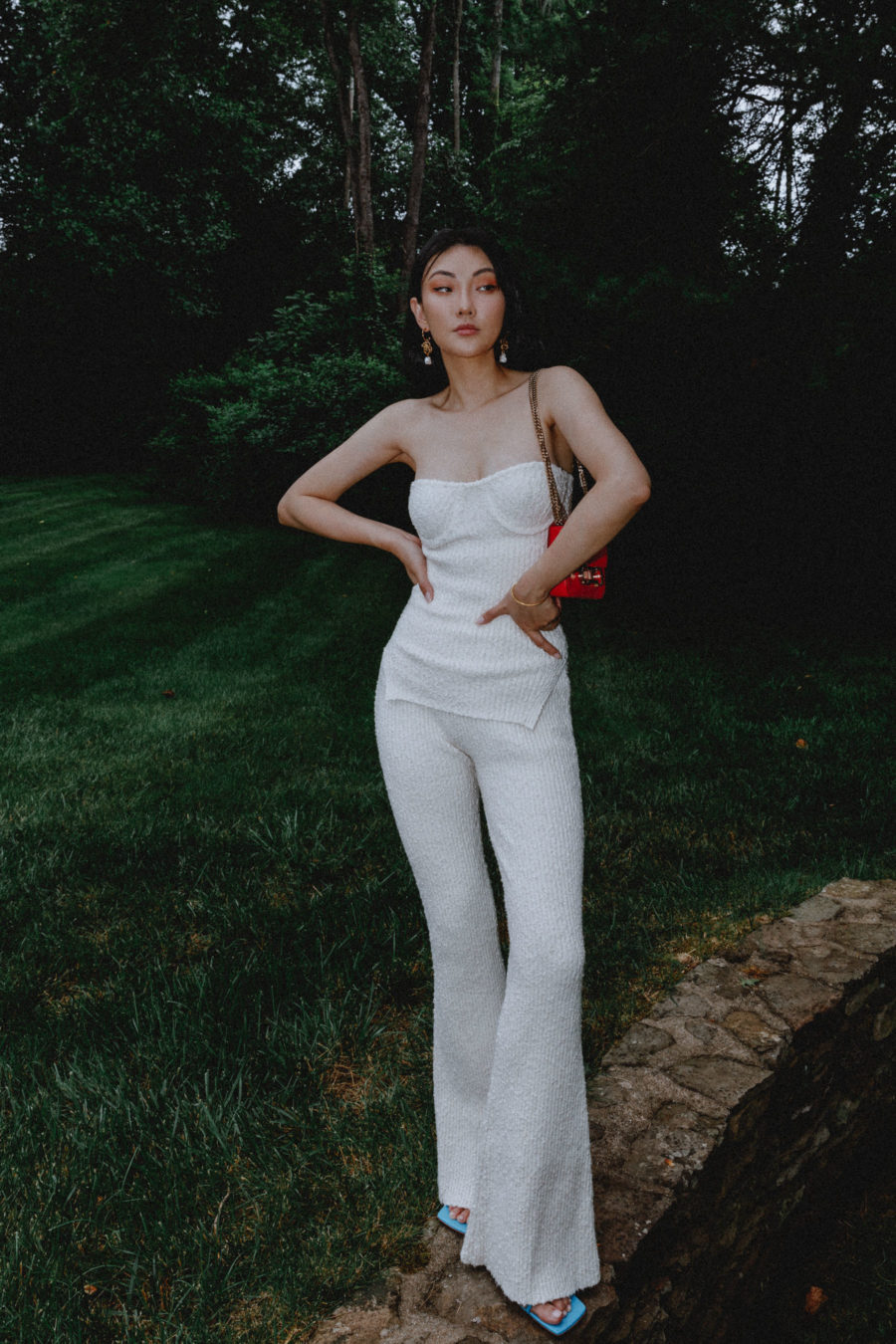 jessica wang wearing a helmut lang knit set for a stylish 4th of july outfit // Jessica Wang - Notjessfashion.com