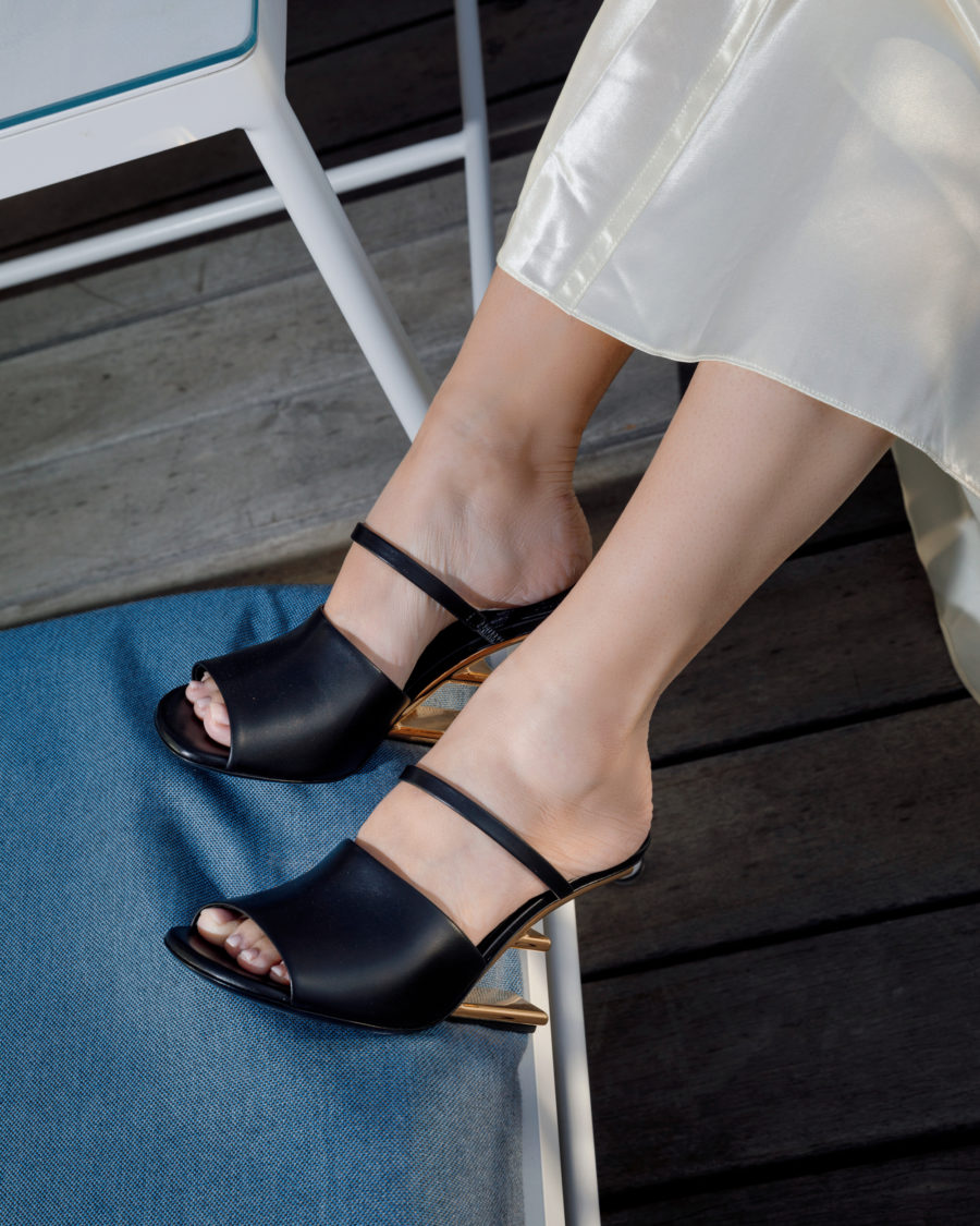 jessica wang wearing fendi sandals with a back to office outfit // Jessica Wang - Notjessfashion.com