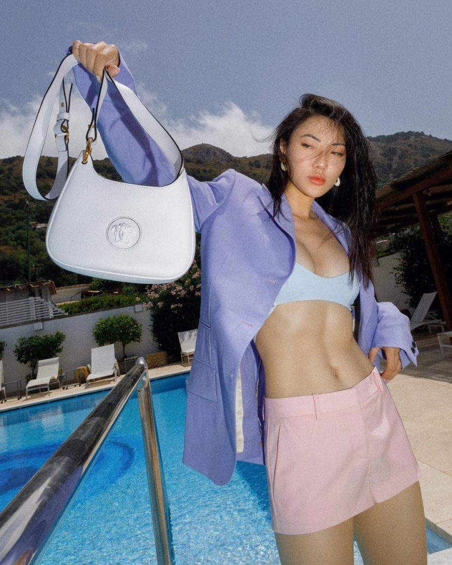 jessica wang wearing a pastel colorblock outfit for some chic end of summer outfits // Jessica Wang - Notjessfashion.com