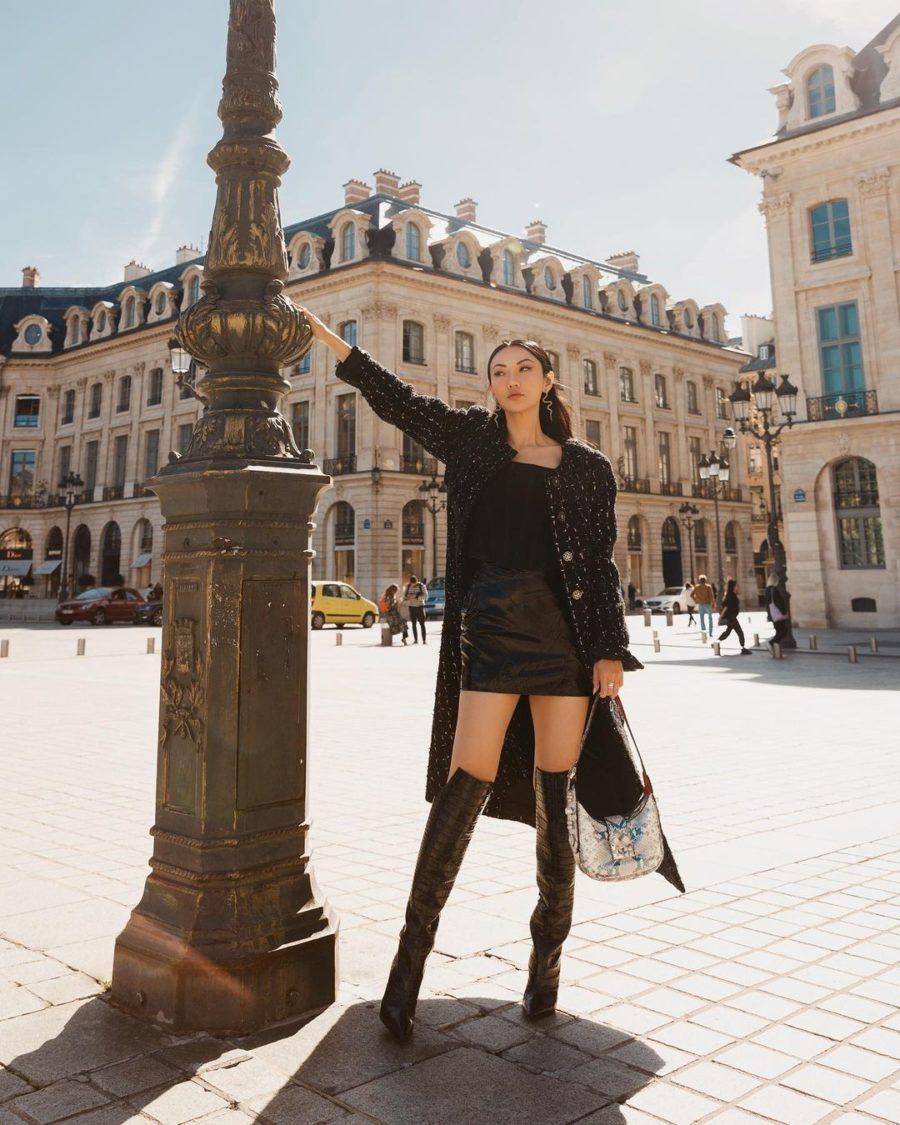jessica wang paris fashion week looks in christian louboutin boots // jessica wang - notjessfashion.com