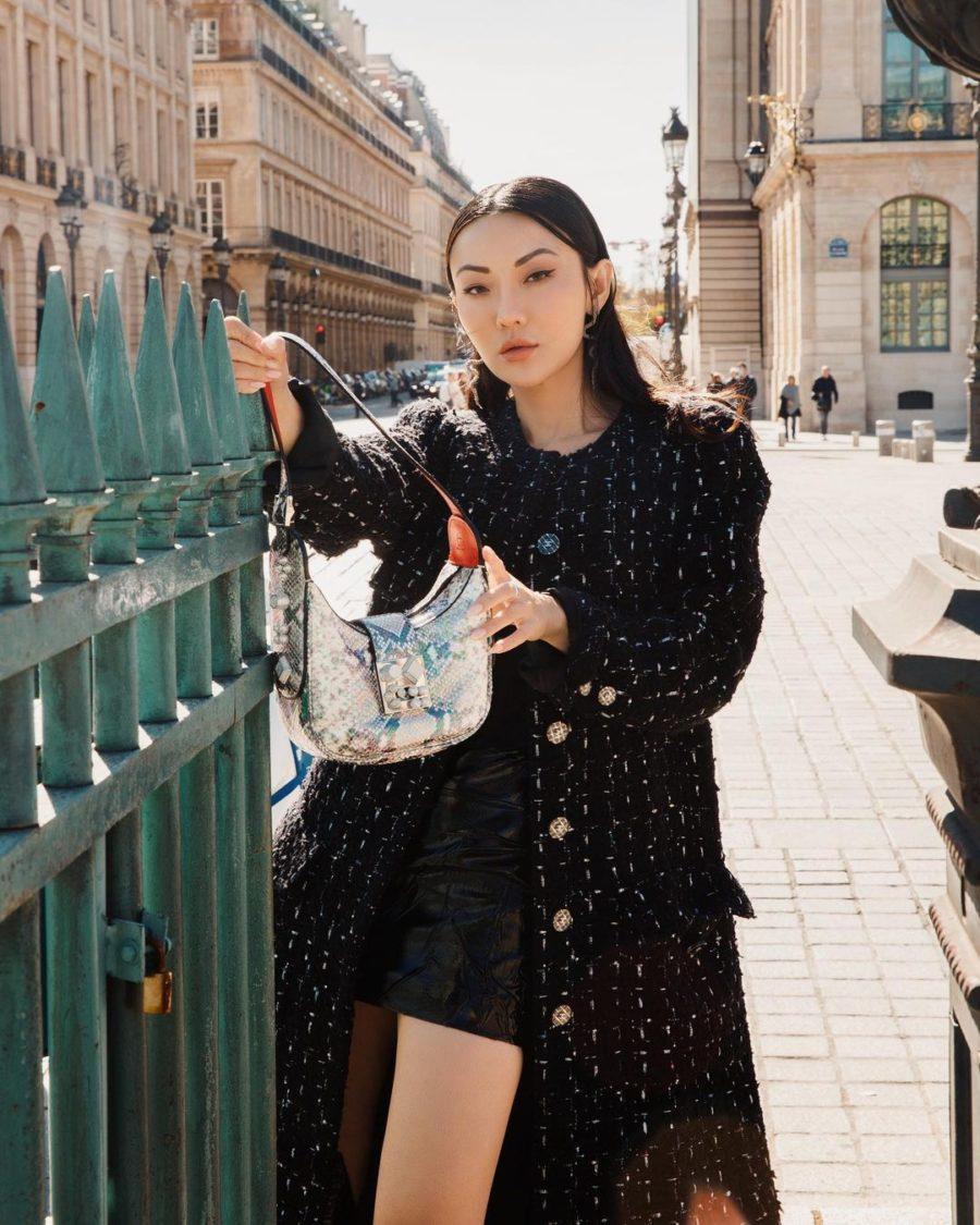 jessica wang paris fashion week looks with a christian louboutin handbag // jessica wang - notjessfashion.com