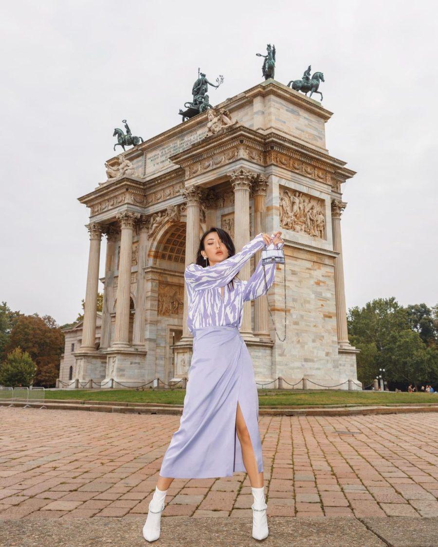 jessica wang wearing lavender paris fashion week looks // jessica wang - notjessfashion.com